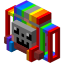 Image result for rainbow backpack minecraft mod